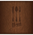 restaurant menu design on wood background vector image