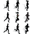 run vector image