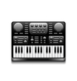 Synthesizer isolated on white vector image