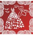 Wedding dress invitation card vector image