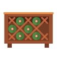 Wine bottles in wooden crate box vector image