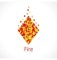 flame abstract symbol vector image vector image