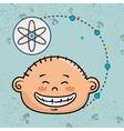 boy cartoon atom icon vector image