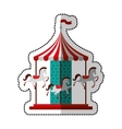 carrousel cute isolated icon vector image