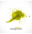 Green Grunge Symbol vector image