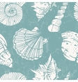 pattern with sea shells vector image
