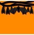 Hanging bats vector image vector image