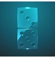 glass domino icon vector image