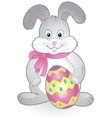 funny happy easter bunny vector image vector image