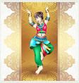 beautiful indian girl dancing vector image