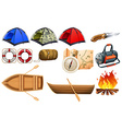 Camping gears vector image