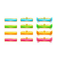 Colorful glossy banners for game or web design vector image