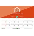 Desk Calendar 2016 Print Template July Week Starts vector image