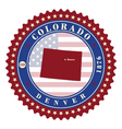 Label sticker cards of State Colorado USA vector image