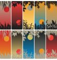 leafy bookmarks vector image