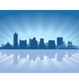 Memphis tennessee skyline vector image