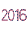 New Year 2016 made of USA flags vector image