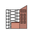 scaffold and building vector image