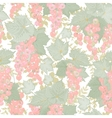 Seamless pattern with currant berries and leaves vector image