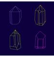 Set of magic crystals Polygonal multicolor gems vector image