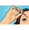 woman plucking eyebrows depilating with tweezers vector image