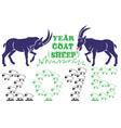 Year goats sheep vector image