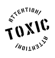 Toxic rubber stamp vector image