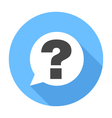 Question sign icon Flat Design icon vector image vector image