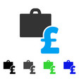 pound accounting flat icon vector image