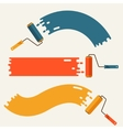 Set of roller brushes with strips paint vector image