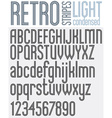PARALLEL stripes retro style font vector image