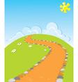 cartoons road vector image