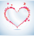paper heart vector image vector image