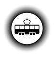 Tram button vector image