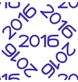 Seamless pattern with numbers of year 2016 vector image