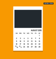 August 2015 calendar vector image