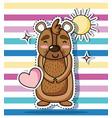 bear animal patch sticker design vector image