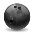 Broken ball vector image