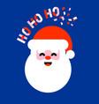 flat icon of santa claus saying ho ho ho vector image