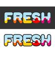 Fresh Letters for logo and emblem vector image