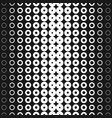 halftone rings seamless pattern with circles vector image