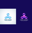 infinite loops fidget spinner abstract sign vector image