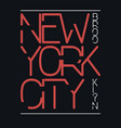 new york city brooklyn typography graphics print vector image