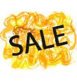 season summer sale off sign over grunge brush art vector image