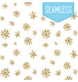 snowflakes golden seamless pattern vector image