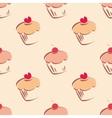 Tile cupcake pattern vector image