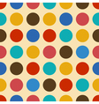 Vintage background seamless pattern with circles vector image
