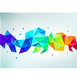 abstract colorful rainbow faceted crystal vector image
