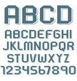 Stickers of alphabet letters and numbers vector image vector image