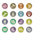 railway station icon set vector image